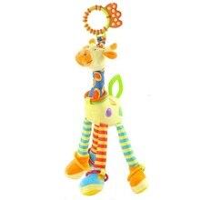 Happy Monkey Baby  Development Soft Plush Rattle Animal Giraffe   Handle Toy Baby Trolley Baby Crib Hanging Teether Toy KF986