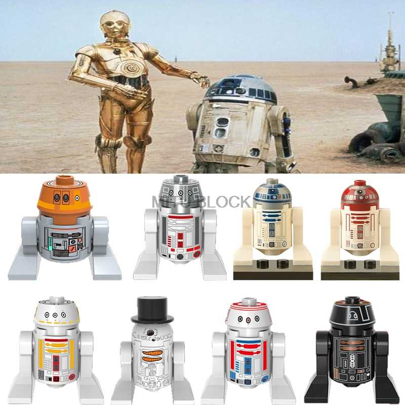 Singola Vendita star Wars Space Wars Robot C3Po R2D2 C-3Po R2-D2 Morte star Droid star era Figures Building Blocks