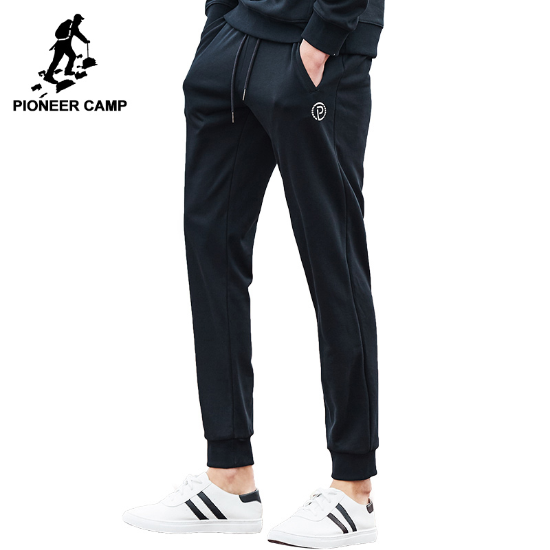 Pioneer Camp New casual pants men brand-clothing fashion sweat pants male top quality black casual trousers for men AWK702048