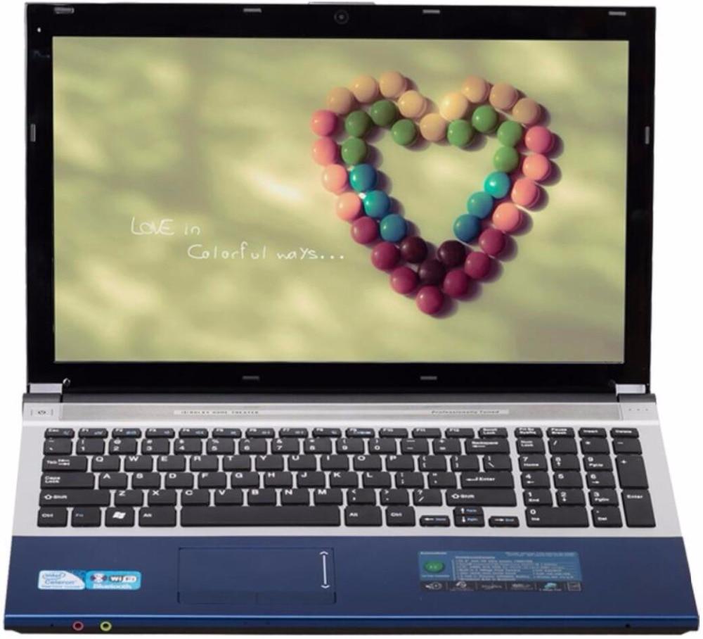 8g RAM + 60g SSD + 500g HDD Intel Core i7 cpu Dual-core HD Graphique ordinateur Portable de jeu 15.6 1920x1080 p Windows 10 Portable Avec DVD-RW