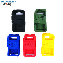 5 Color Handheld Soft Rubber Case Portable Silicone Cover Shell for Baofeng UV-5R UV-5RA UV-5RE Series Walkie Talkie