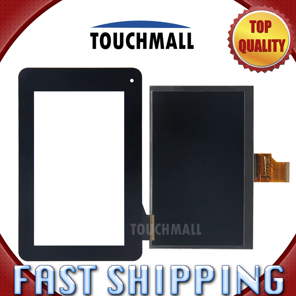 For New LCD Display + Touch Screen Digitizer Glass Replacement Acer Iconia Tab B1-710 B1 710 7-inch Black Free Shipping new 5 black lcd display glass touch digitizer screen assembly for acer liquid z530 lte t02 replacement