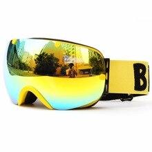 Benice Brand Ski Goggles Double Lens UV400 Anti-fog Ski Glasses Skiing Snowboard Men Women Snow Goggles Eyewear