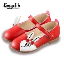 дитячі дівчата взуття весна мультфільм кролик шкіряне взуття 2018 весілля сукня принцеса вечірка танцювальні квартири дитячі малюки гумова лоафер
