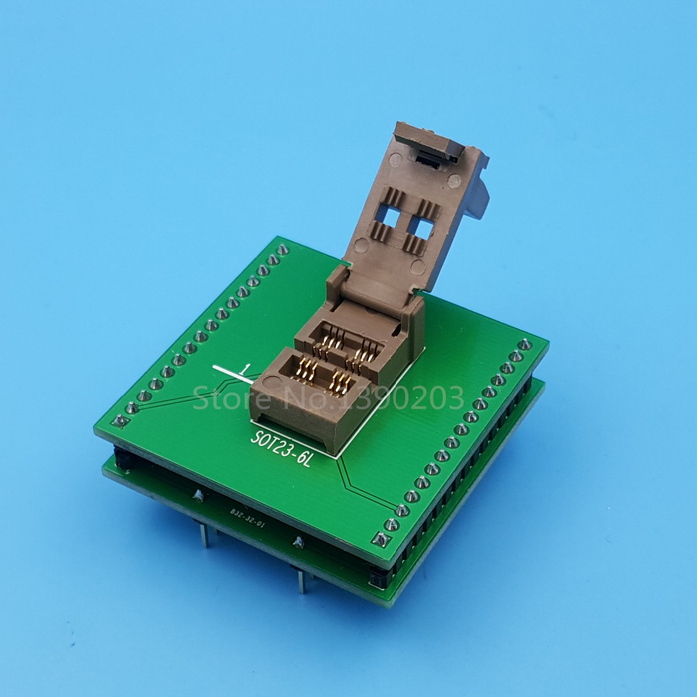 SOT23-6L SOT23 To DIP6 IC Programmer Adapter Chip Test Socket sot23 3 sot23 5 sot23 6 test socket head seep sot23 programmer adapter for gang 08 programmer
