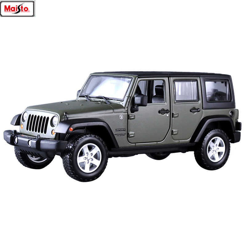 Maisto 1:24 Jeep Wrangler manufacturer authorized simulation alloy car model crafts decoration collection toy tools