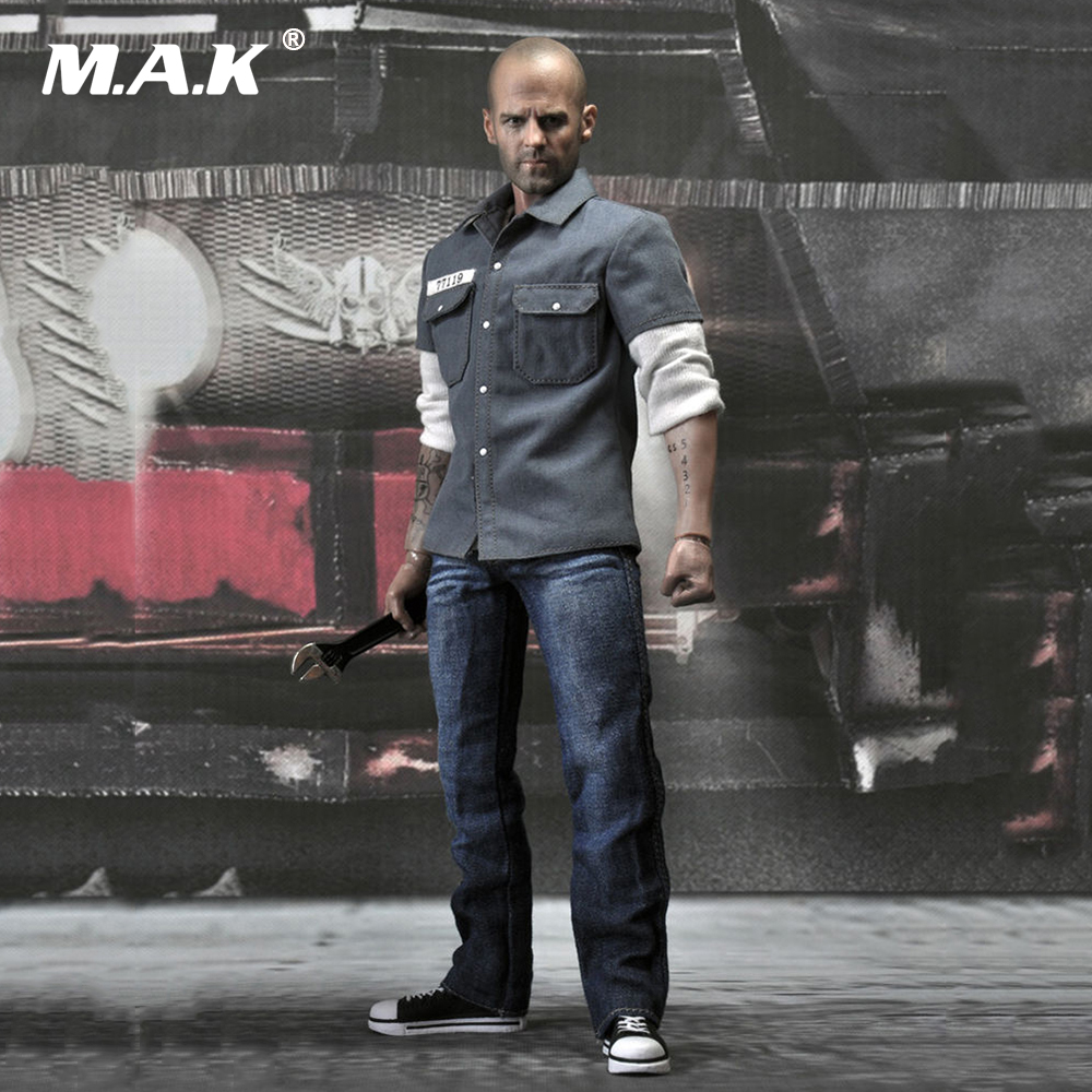 1/6 Frankenstein Jason Statham Action Figures With Tattoo and 2 Sets of Clothes Death Race Driver EX004 Models Collection frankenstein