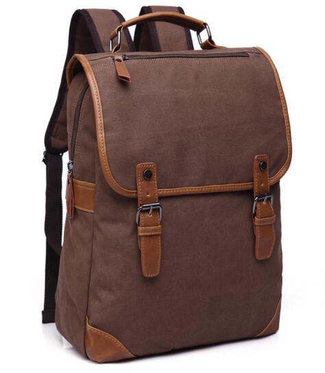 Vintage men s Canvas Backpack Backpack Bag men s casual men