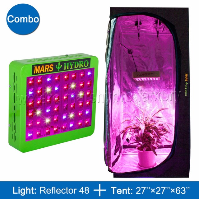 Mars Hydro Reflector 240W LED Grow Light Panel Hydro+70x70x160 Indoor Grow Tent Kit for  sc 1 st  AliExpress.com & Mars Hydro Reflector 240W LED Grow Light Panel Hydro+70x70x160 ...