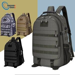 Image 1 - 40L askeri taktik Assault paketi sırt çantası ordu Molle su geçirmez Bug sırt çantası açık yürüyüş kamp avcılık şarj deliği