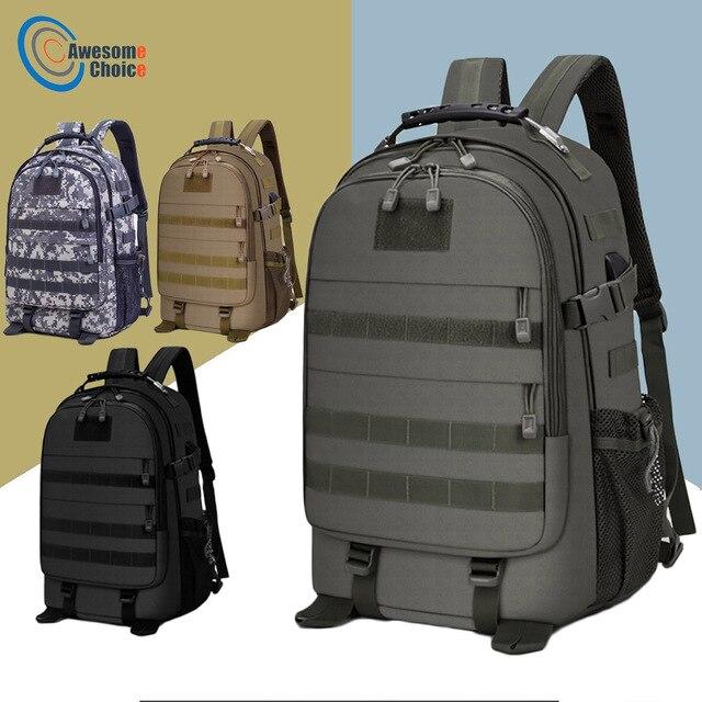40L askeri taktik Assault paketi sırt çantası ordu Molle su geçirmez Bug sırt çantası açık yürüyüş kamp avcılık şarj deliği