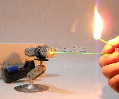 NEW Powerful 500000m high power Military green laser pointer LED flashligh 532nm teaching focusable Burning match,burn cigarette