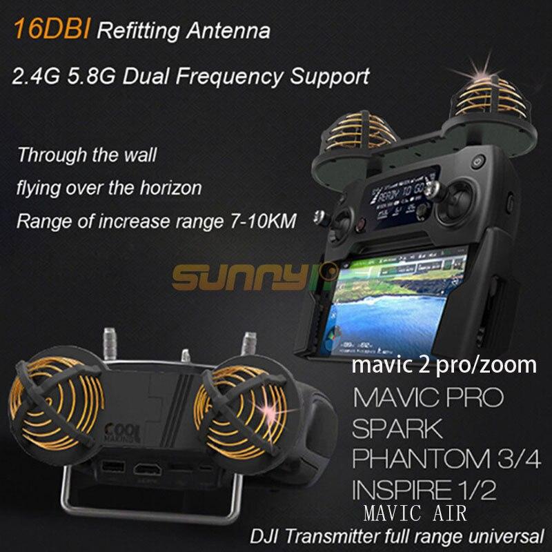 DJI MAVIC SPARK PHANTOM 3/4/4PRO/mavic air/mavic 2 pro/zoom Télécommande antenne/Portée Du Signal Booster Extender