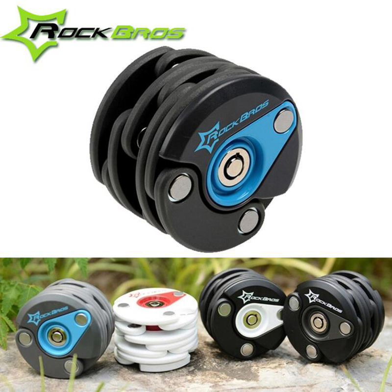 ROCKBROS Hamburg-Lock Bike Anti Theft Mini Chain Lock Folding-locks Bicycle Cycle Cycling Locks 4 Colors H6073 mae b adel joy nmore виброяйцо с выносным пультом управления