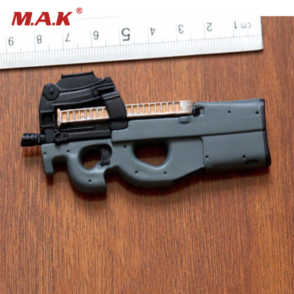 NEW 1/6 Scale P90 Rifle Gun Model Toys Soldier Army Weapons