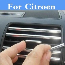 U Style Car Modified Decoration Strip Air Outlet Blade stickers For Citroen C1 C2 C3 C4 C4 Aircross C4 Cactus C5 C6