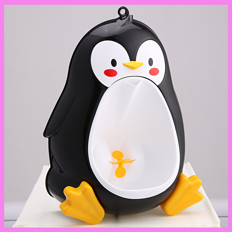 Cartoon Penguin Urinal Potty for Boys Hanging on The Wall Baby Night Urinals Potties Baby Toilet Trainer Seat Portable Potties hot selling baby penguintoilet girls boys baby potty toilet urinal portable bedpan children drawer type potties stool seat