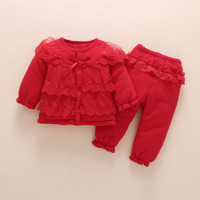 newborn baby girl clothes winter Thick Cotton baby clothes 0 12 months set baby clothing pants Children Outerwear birthday gift