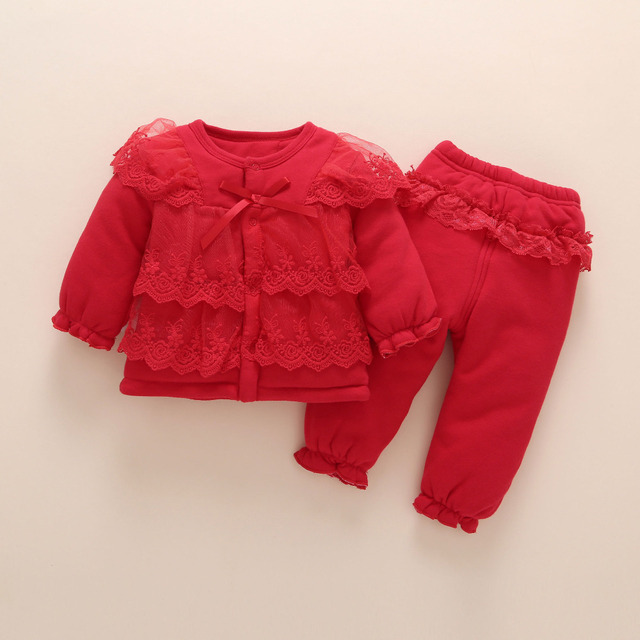 Newborn Baby Girl Clothes Winter Thick Cotton Baby Clothes 0 12