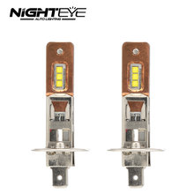 2Pcs H1 H11 LED headlights bulb 12v H7 H11 H1 H3 9005 9006 Auto Car Headlight 60W 1600LM CREE XBD Fog Lights white 6500K Bulb(China)