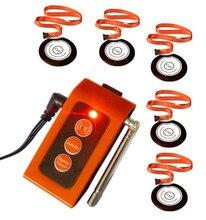 ¡ Envío gratis! soud y sistema de alarma de luz de Emergencia, líder llamada personal de llamadas inalámbricas, llamada a la enfermera, 5 botones de collar + 1 alarmer