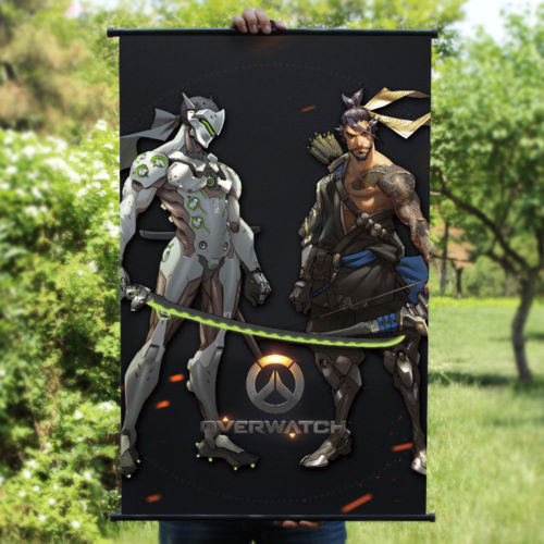 Blizzard Game Overwatch HANZO Genji Poster Wall Murals Scroll Painting ...