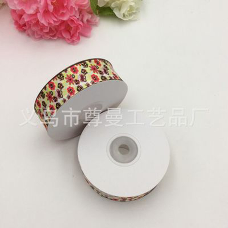 Fashion Flower DIY Digital Printing Thermal Transfer Sublimation Ribbon Grosgrain Clothing Decoration Belt