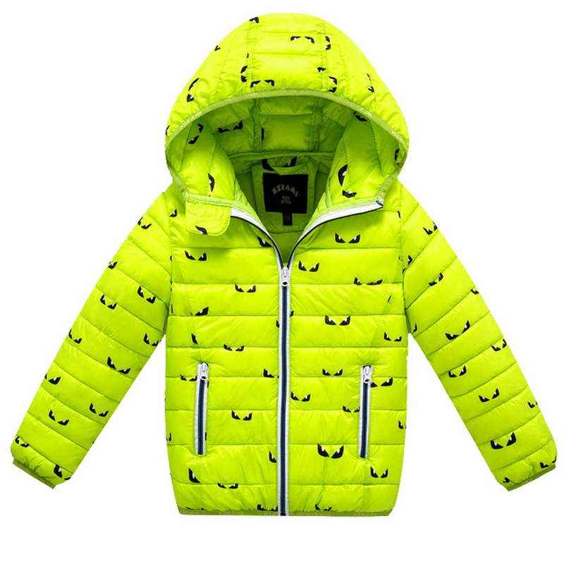 Детские куртки Зимний пуховик для девочек и мальчиков 2018 детские зимние пальто теплая верхняя одежда для детей пальто с капюшоном для 2-8 лет...