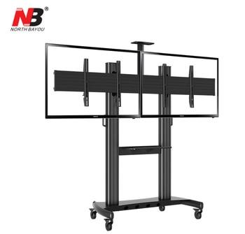 "NB AVT1800-60-2A Dual Screen TV Mobile Cart 40""-60"" LED LCD Plasma TV Mount Trolley Stand With AV Shelf And Camera Holder"
