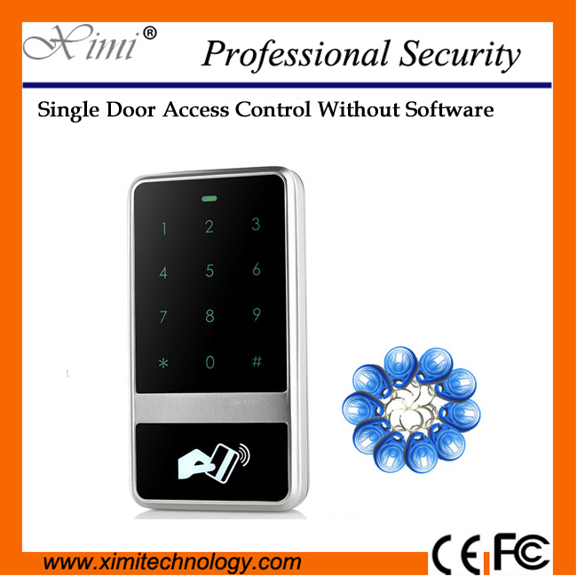 Surface waterproof access controller with touch keypad card reader 8000 user multi-function equipment Weigand reader contact card reader with pinpad numeric keypad for financial sector counters