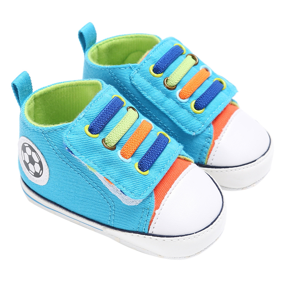 Toddler Baby First Walkers Shoes Infant Boys Girls Casual Sneaker Canvas Patch Colorful Prewalker Soft Sole Crib Shoes