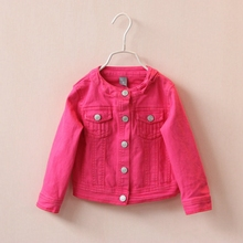 2 5T High Quality Spring Girls Jackets Denim Outerwear Embroidery Flower Girl Coats Jeans Jacket Kids  Clothing Children Clothes