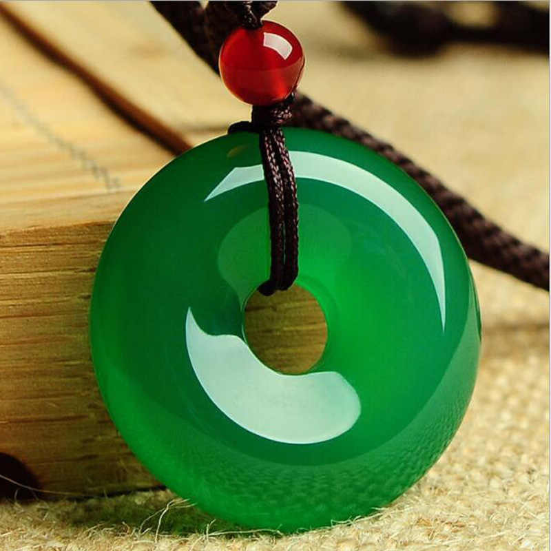 Yu Xin Yuan Fine Jewelry Natural Green Jade Medullary Pendant Lucky Blessing Necklace Women Men Gifts Hot 2017