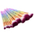 10 Unids Galvanoplastia Manija de Nylon Maquillaje Pinceles Conjunto Deslumbrante Colorido Cosméticos Fundación Blush Brocha de Maquillaje Herramientas