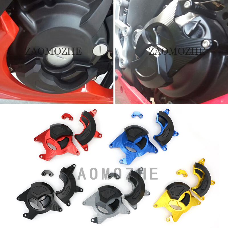 Motorcycle CNC Aluminum Engine Guard Case Slider Cover Protector Left Right For Honda CBR300R CB300F 2015