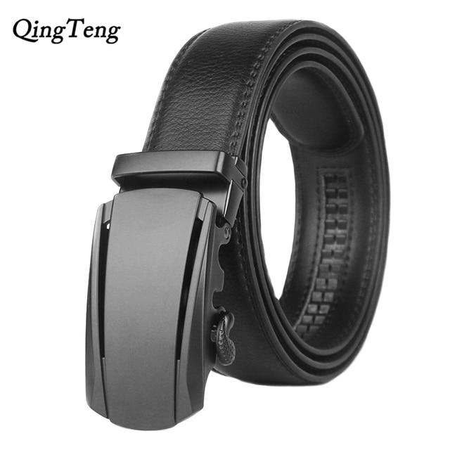 9c5d927b7eee Diseñador de moda para hombre automático hebilla cinturones para hombres  alta calidad marca hombre negro Correa