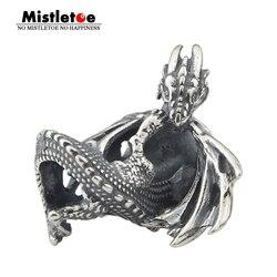 Visco 925 prata esterlina gelo fogo dragão charme talão caber europeu pulseira jóias