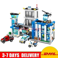 DHL Bela 10424 Police Headquarters 890PCS Educational Building Blocks Bricks Model Toys With Children Gifts Compatible