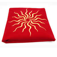 80x80cm board game tarot tablecloth wicca sun,pentacle velvet tarot cloth playmat Accessories embroidery table cover