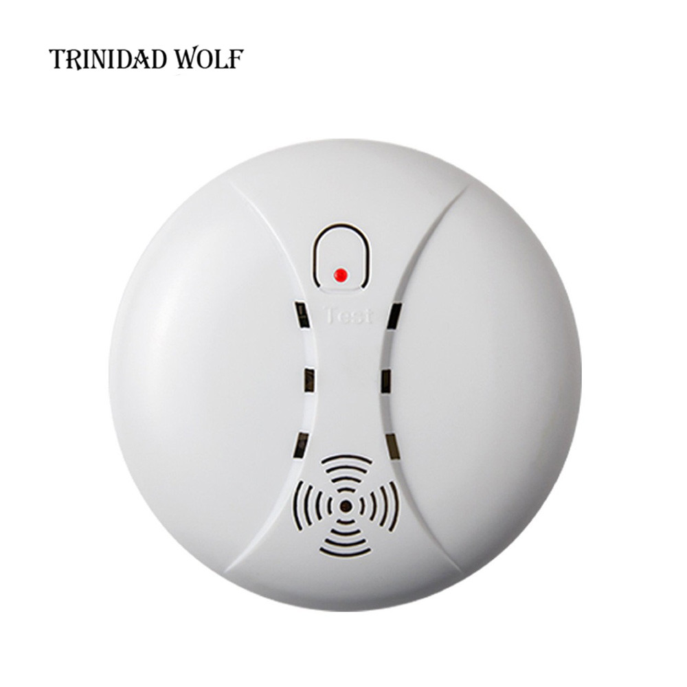 TRINIDAD WOLF Wireless Smoke/fire Detector smoke alarm Wireless For Touch Keypad Panel wifi GSM Home Security System No battery yobangsecurity touch keypad wireless wifi gsm home security burglar alarm system wireless siren wifi ip camera smoke detector