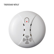 TRINIDAD WOLF Wireless Smoke/fire Detector smoke alarm Wireless For Touch Keypad Panel wifi GSM Home Security System No battery