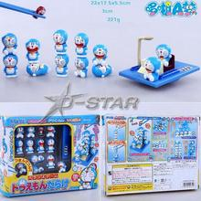 "New ""Doraemon full"" Pick Piled Balance Game Chopsticks Practice Decoration Figure Collection Model Toy"