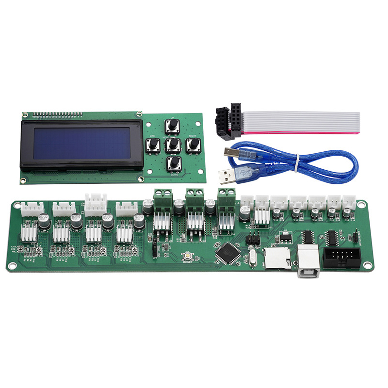 Melzi 2.0 Mainboard PCB ATMEGA 1284P P802M Motherboard X3A XY-100 Controller+Melzi 2.0 2004LCD For Tronxy 3D Printer DIY Parts