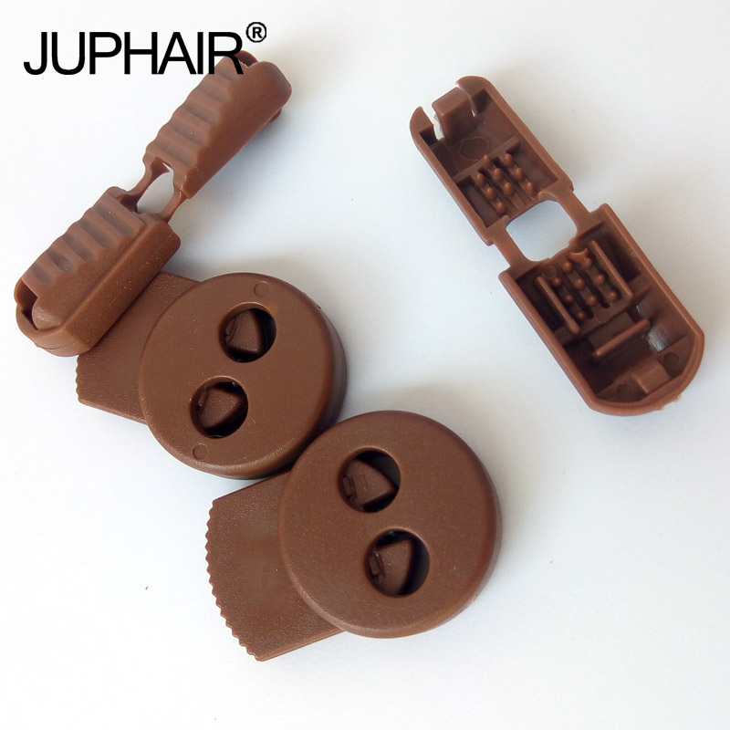 JUP1-50 Sets Light Brown Flat Buckle Elastic Shoes Buckles Decorative Buckles Child Adult No-tie Shoelaces Never Tie Laces Again child l jack reacher never go back a novel dell mass marke tie in edition
