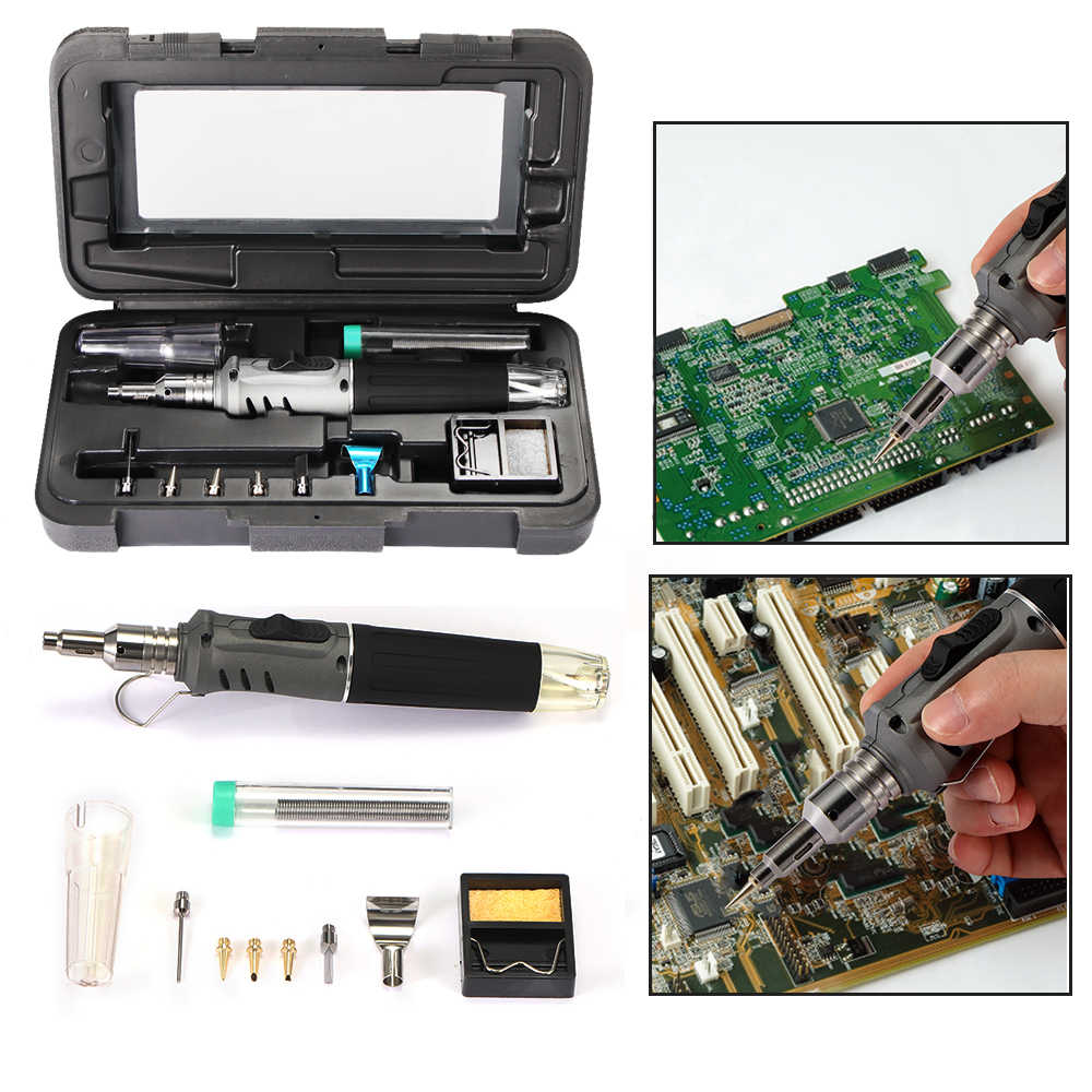 Self-Ignition 10-In-1 Gas Solder Besi Tanpa Kabel Las Kit Alat Outdoor Portable Butane Torch