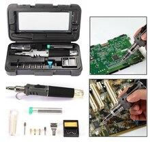 Газовый паяльник 10 в 1 с самозажиганием, беспроводной сварочный фонарь, набор инструментов, уличный портативный бутановый фонарь