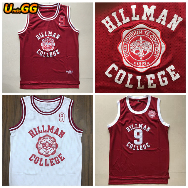 1ce8018abce7 Uncle GG Different World Dwayne Wayne 9 Hillman College Theater Basketball  Jersey Retro Movie Jersey All Stitched