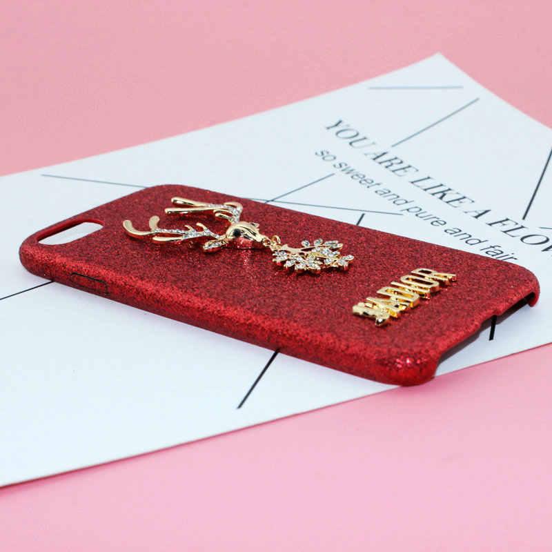 Téléphone décoratif beauté bricolage téléphone coque accessoires alliage placage diamant sika cerf pendentif feuilles lettre alliage accessoires
