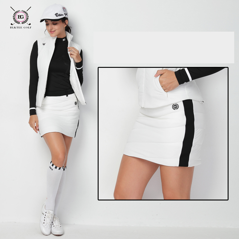 все цены на Golf Clothing Women's Short Skirt Ladies Autumn and Winter Sports Quilted Anti-Expose Skirt Women Skirts онлайн