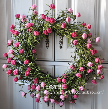 45cm 178 wreaths artificial garland door hanging trim guirlanda 45cm 178 wreaths artificial garland door hanging trim guirlanda wedding decoration bowyer flower garishness rose party decor in artificial dried junglespirit Images